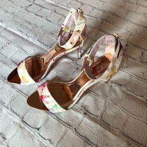 TED BAKER LONDON Charv Floral Heel sandals Size 39
